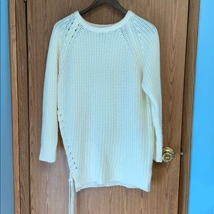 Cream sweater by Rue 21 with braided side accent